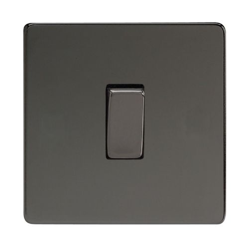 Varilight XDI7S Screwless Iridium Black 1 Gang 10A Intermediate Rocker Light Switch